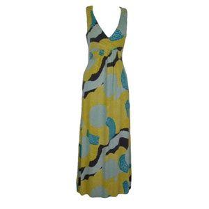 Boden Yellow Summer Jersey Maxi Dress